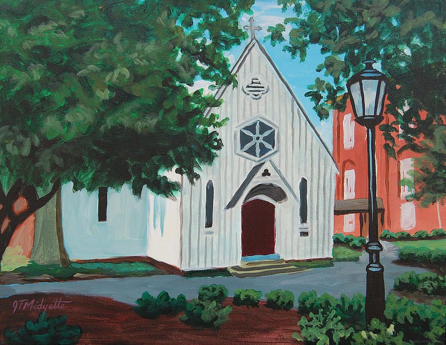 Building Painting - Saint Marys Chapel by Tommy Midyette