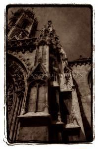 Budapest Photograph - Saint Mattias Church Spires Budapest by K Randall Wilcox