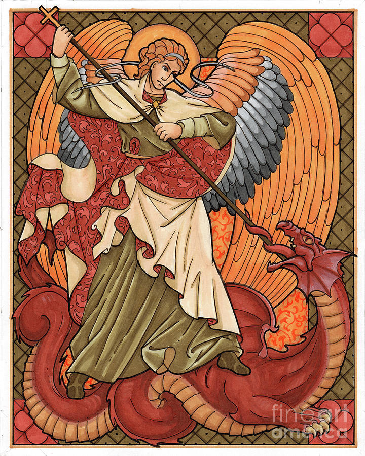 Image result for st. michael and dragon