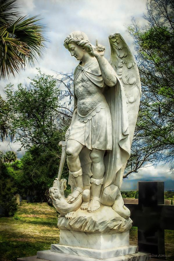 Archangel Photograph - Saint Michael And The Dragon by Melissa Bittinger