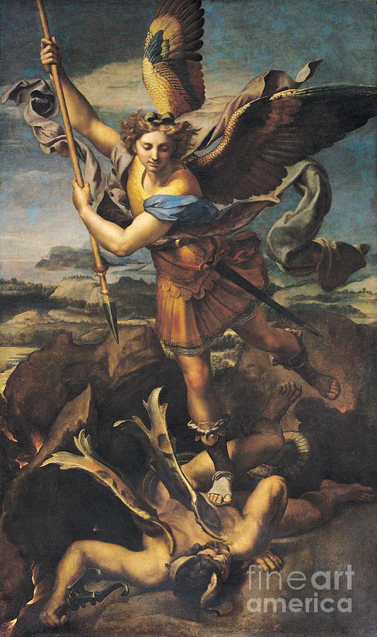 Michael Painting - Saint Michael Overwhelming The Demon by Raphael
