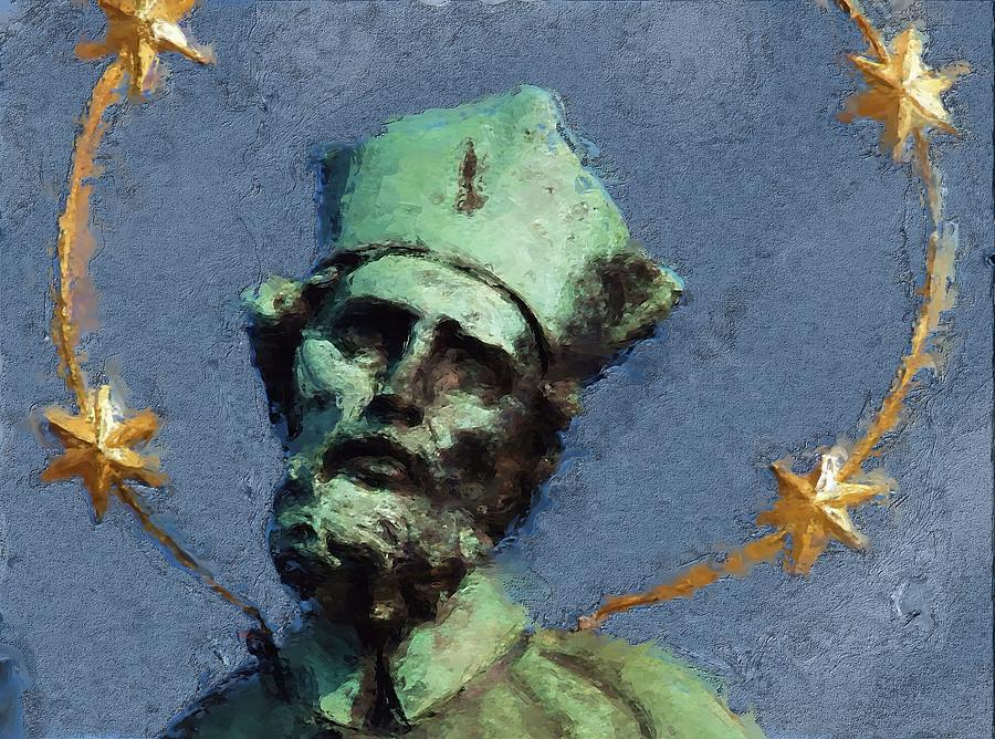 Saint Painting - Saint Nepomuk by Shawn Wallwork