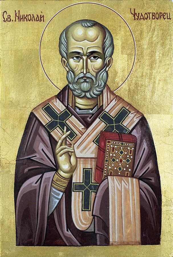 Orthodox Icon Painting - Saint Nicholas by Anton Dimitrov