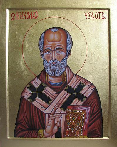 Icon Painting - Saint Nicholas by Biljana Vujaklija