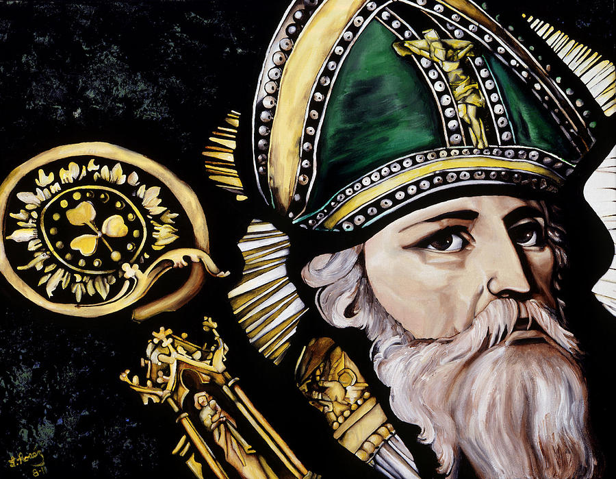 Saint Patrick Painting - Saint Patrick by Leeann Stumpf