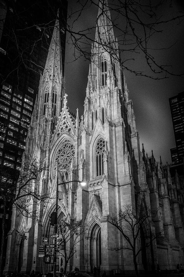 Saint Patrick's - At Night by Timothy Harris