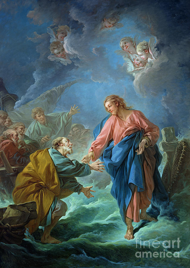 Peter Painting - Saint Peter Invited To Walk On The Water by Francois Boucher