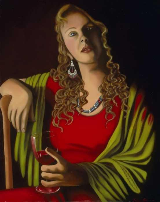 Realism Painting - Saint by Tina Blondell