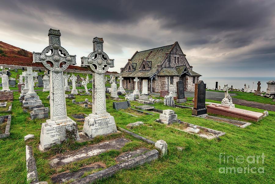Cemetery Photograph - Saint Tudno Llandudno by Adrian Evans