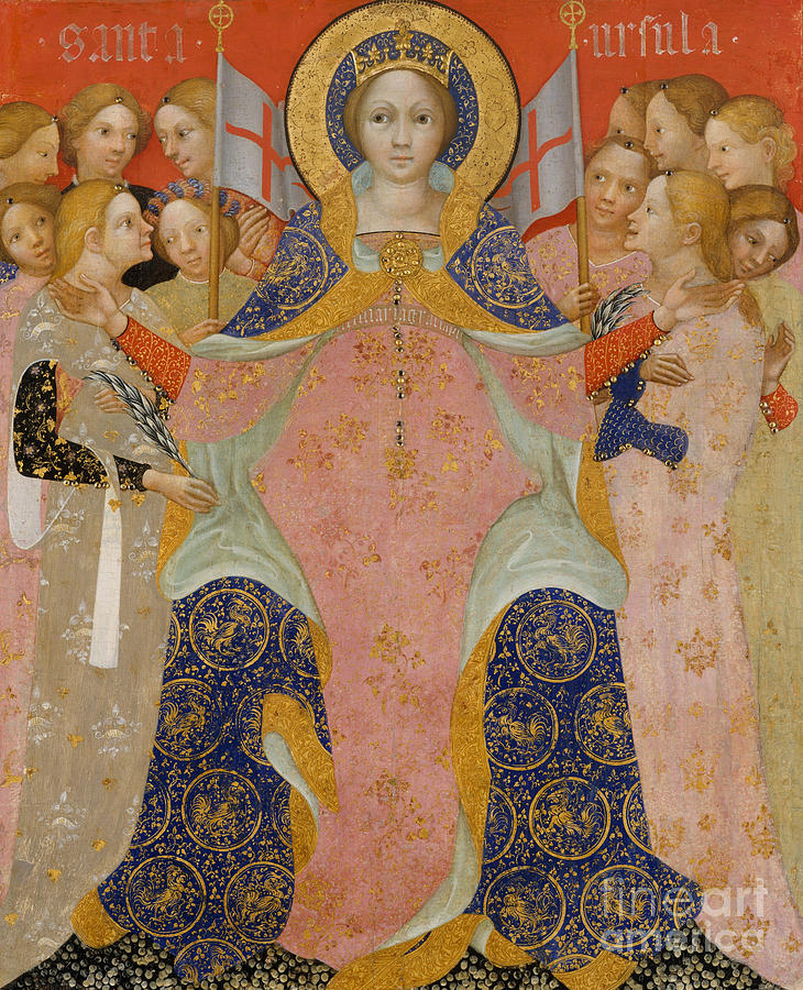 Saint Ursula Painting - Saint Ursula And Her Maidens by Nicolo di Pietro
