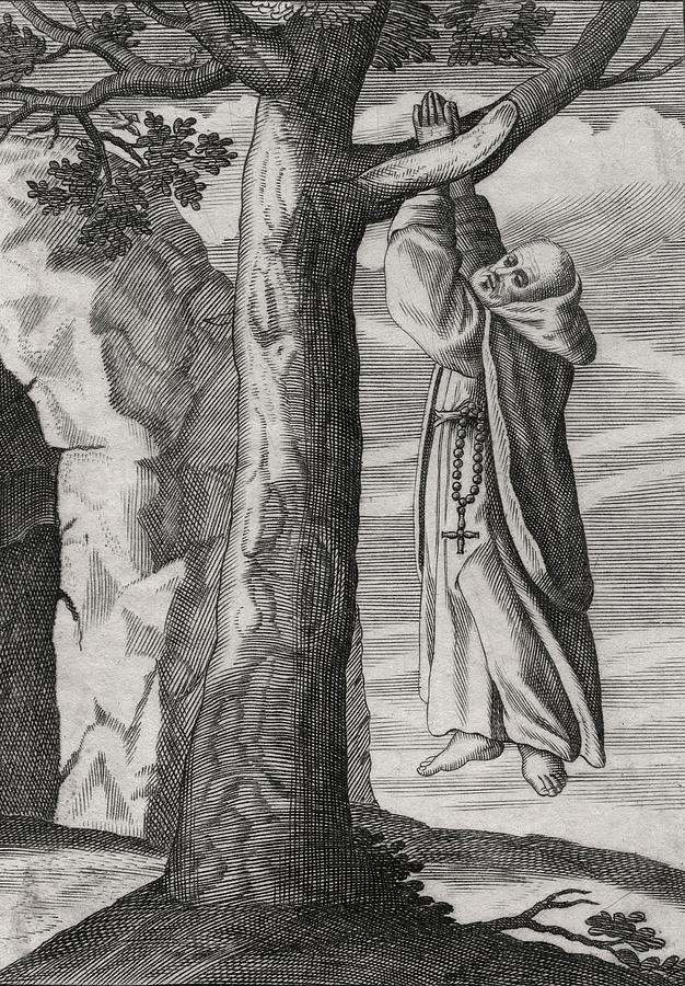 Strange Digital Art - Saint Victorinus Does Penance by Antique Images