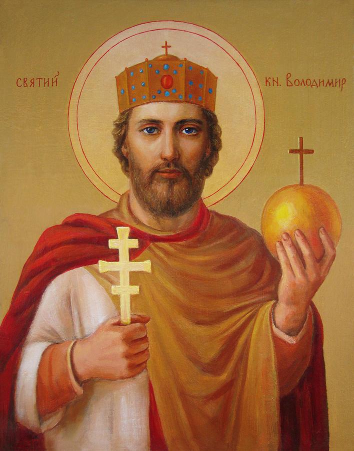 Saint Painting - Saint Volodymyr by Svitozar Nenyuk