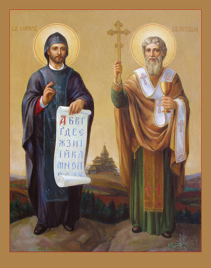 Saints Painting - Saints Cyril And Methodius - Missionaries To The Slavs by Svitozar Nenyuk