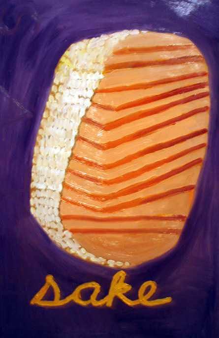 Colorful Painting - Sake  Purple by Patrice Tullai