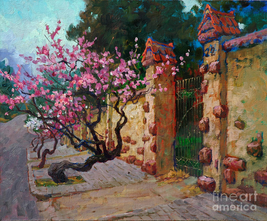 Sakura Opened The Outside Wall Painting By Xichang Sun
