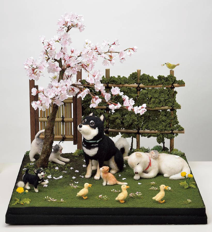 Japanese Mixed Media - Sakura by Yukiko Sato