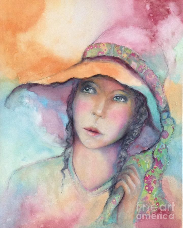 Portrait Painting - Sal by Pamela Vosseller