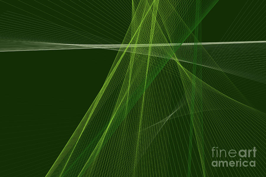 Abstract Digital Art - Salad Computer Graphic Line Pattern by Frank Ramspott