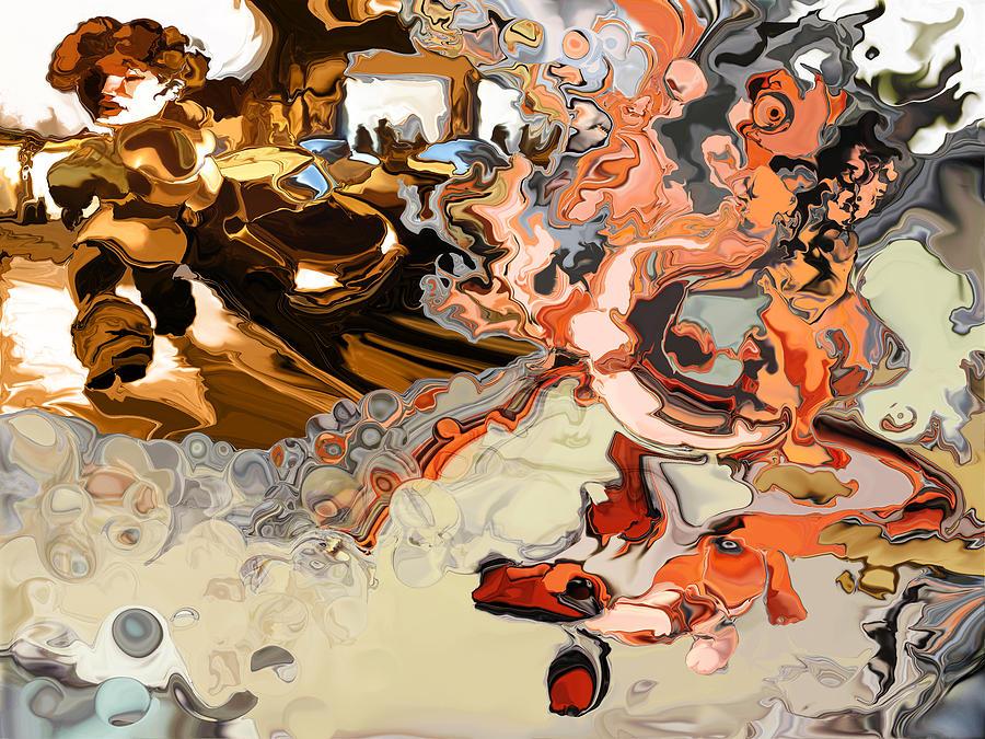 Psychedelic Digital Art - Salamander by Alexandru Sacui