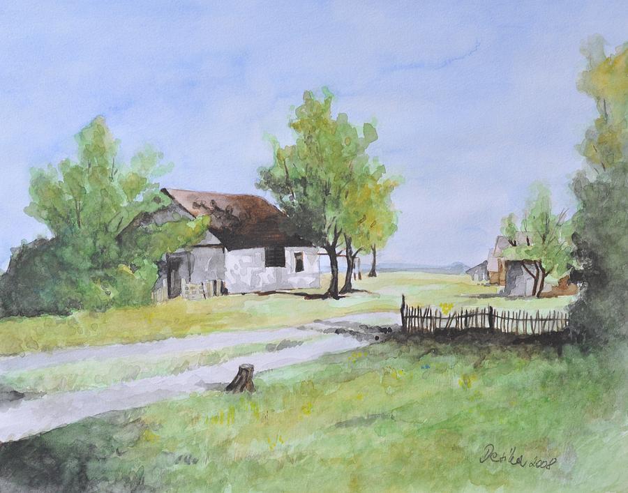 Landscape Painting - Salas L by Desimir Rodic