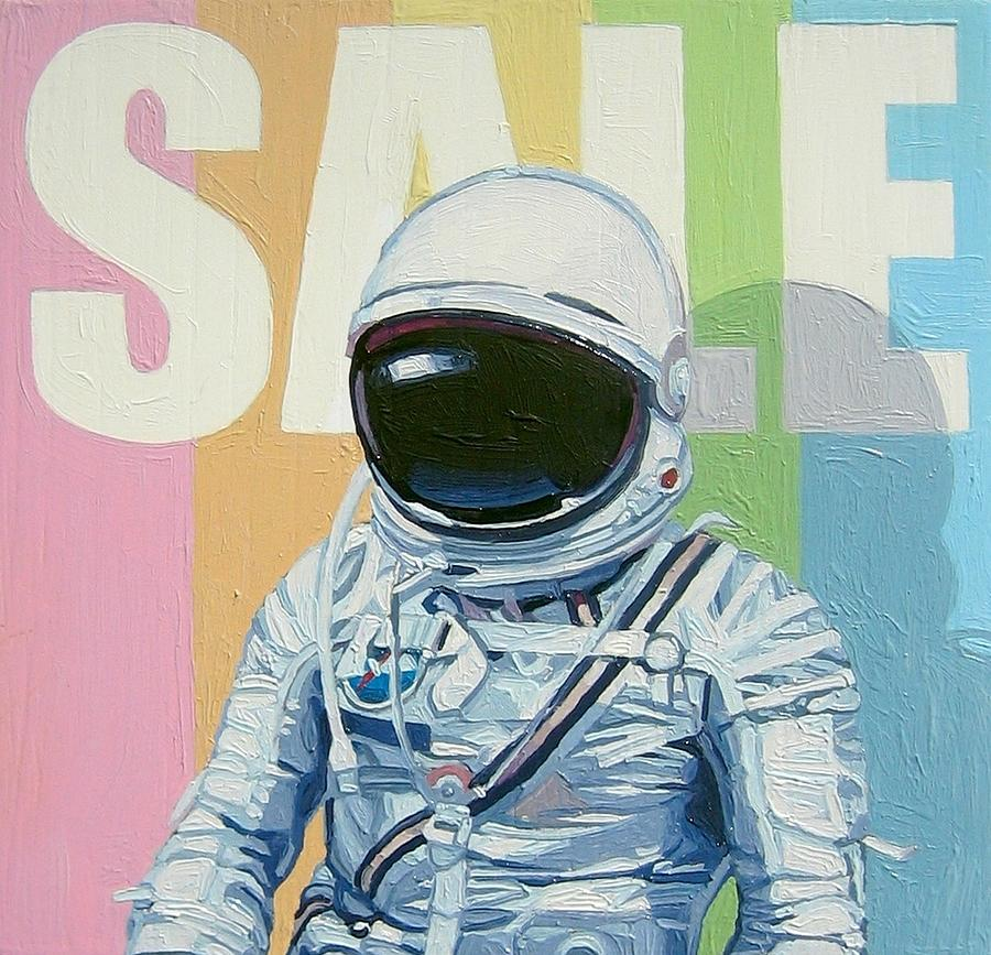 Astronaut Painting - Sale by Scott Listfield