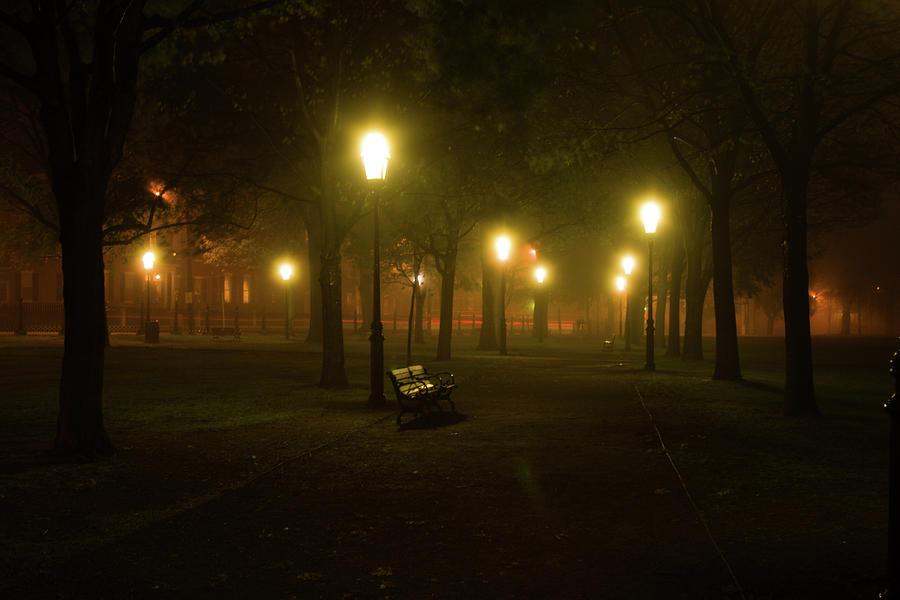 Salem Ma Photograph - Salem At Night by Jeff Folger