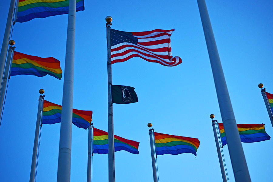 Salem Photograph - Salem Ma Flags Gay Pride by Toby McGuire