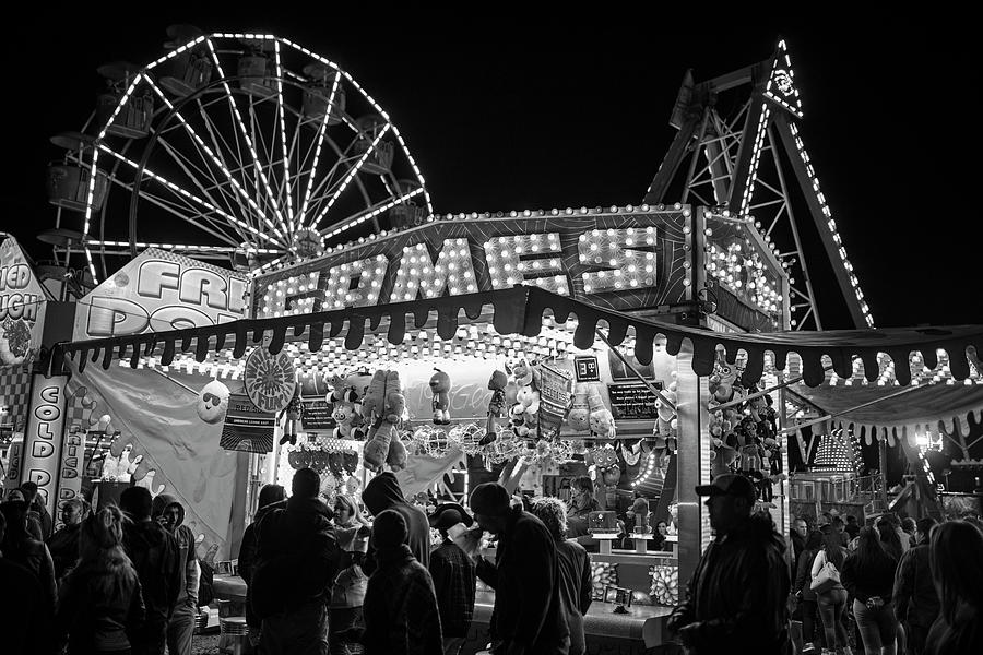 Salem Ma Halloween Carnival Games Stand Salem Ma Black And White ...