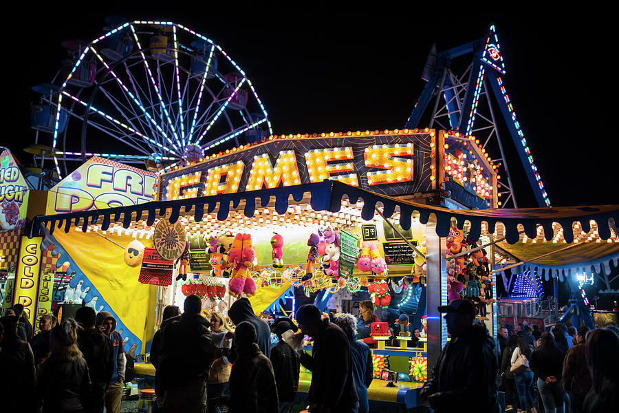 Salem Ma Halloween Carnival Games Stand Salem Ma Photograph by ...