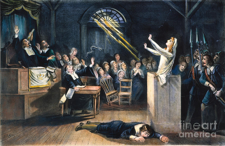 1692 Photograph - Salem Witch Trial, 1692 by Granger