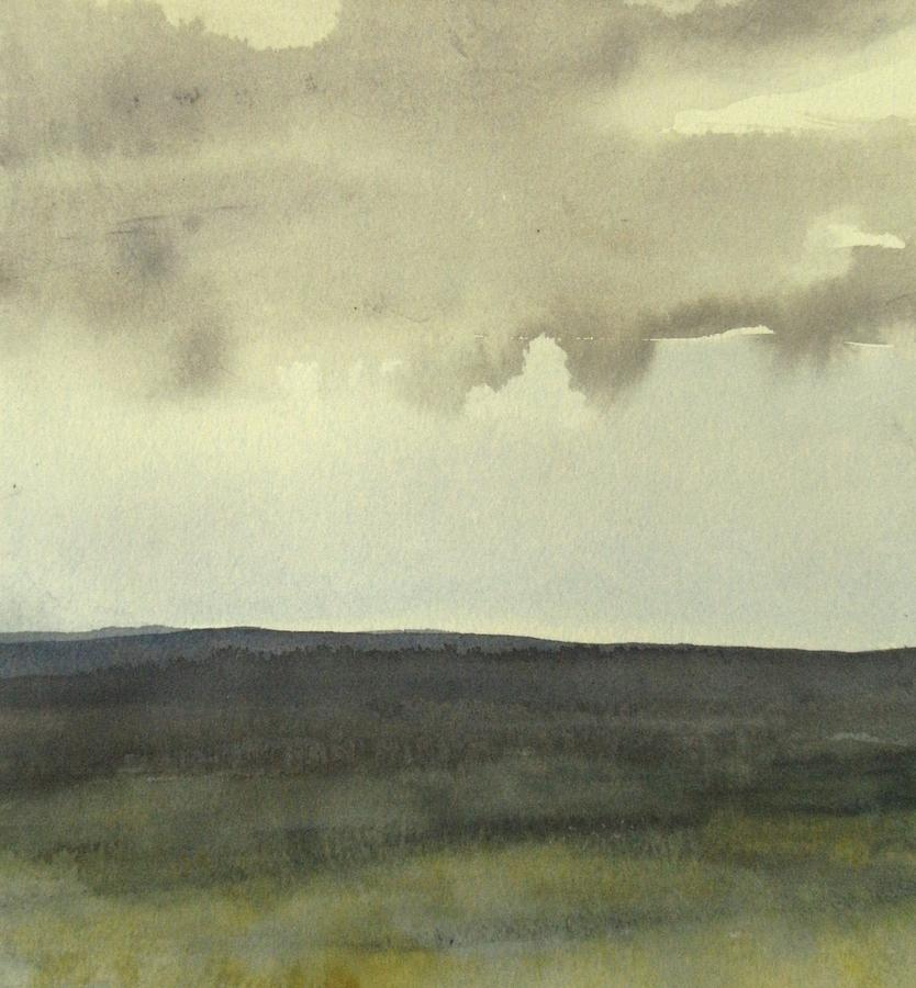 Landscape Painting - dagrar over salenfjallen- Shifting daylight over mountain ridges, 10 of 12_60 x 60 cm by Marica Ohlsson