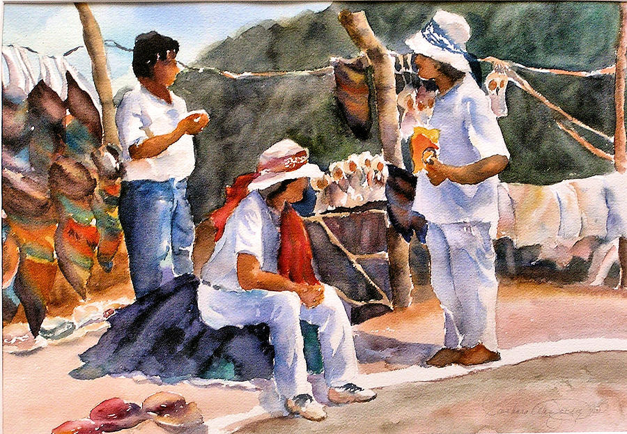 Mexico Painting - Sales Break by Barbara Jung