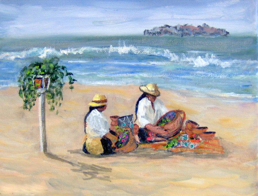 People Painting - Salesmeeting in Ixtapa by Lorna Skeie