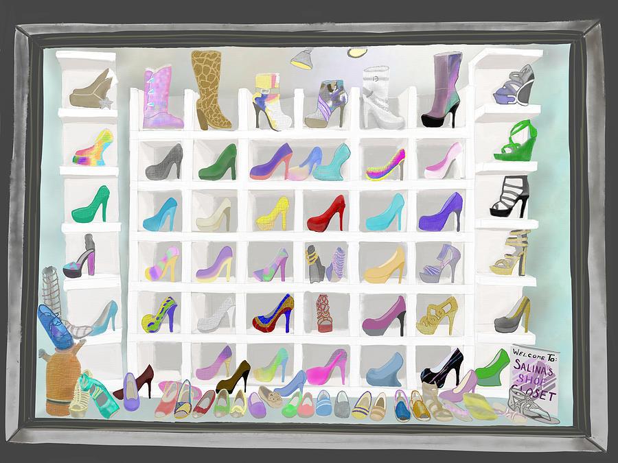 Salina's Shoe Closet by Melinda Ledsome