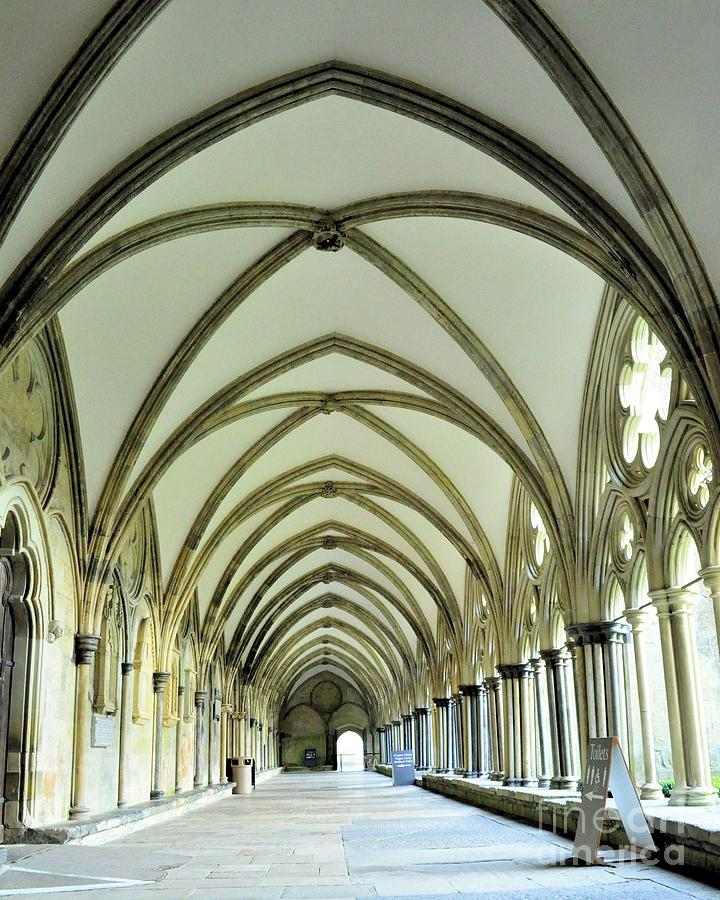 Church Photograph - Salisbury Cathedral by Caroline  Jeanine