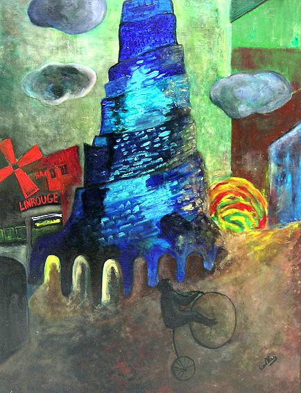 Surreal Painting - Salita A Babele by Leonblas Leonblas