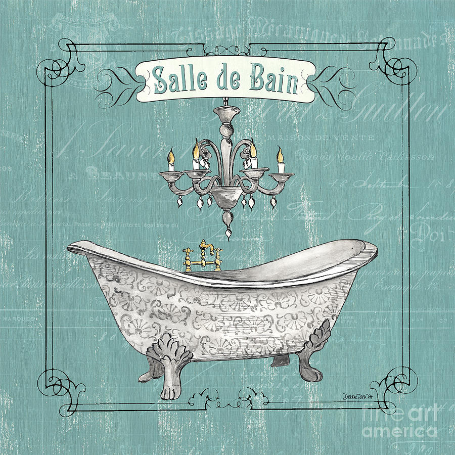 Bath Painting - Salle De Bain by Debbie DeWitt