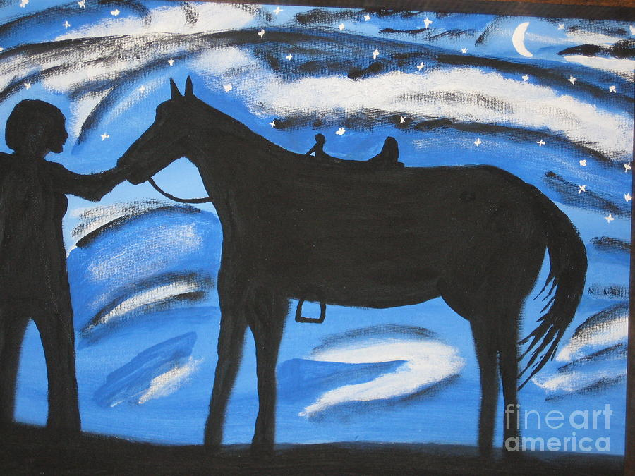 Horse Painting - Sally And Sunny by Jeffrey Koss