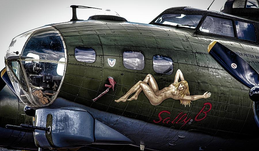 Duxford Photograph - Sally B by Martin Newman