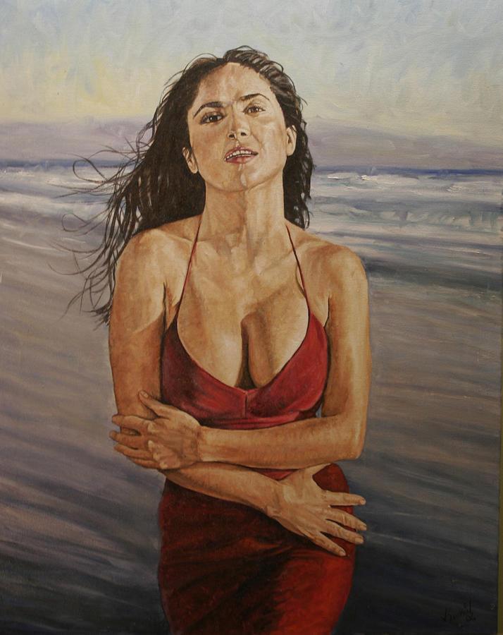 Portrait Painting - Salma by Jason  Swain