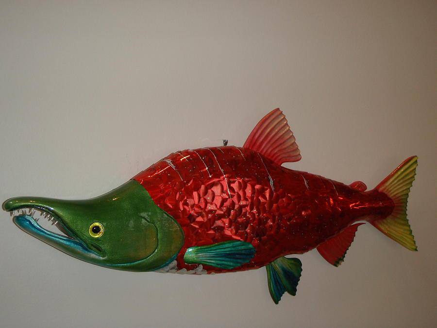 Fish Mixed Media - Salmon. by Bob Lawrence