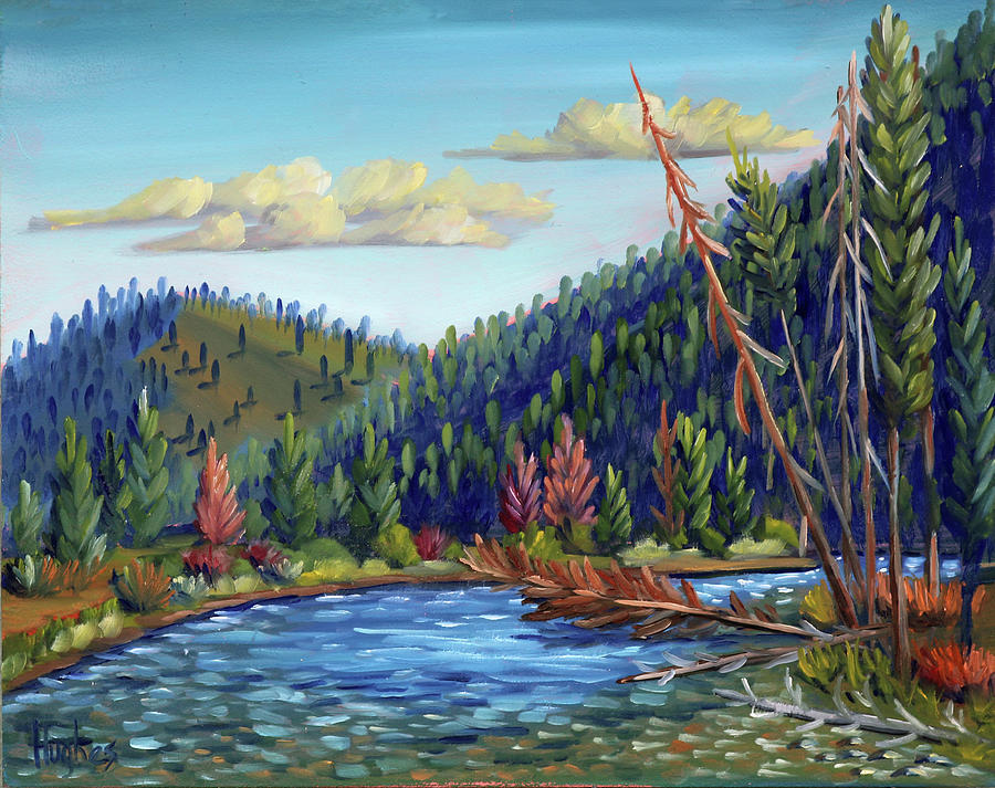 Salmon River - Stanley by Kevin Hughes