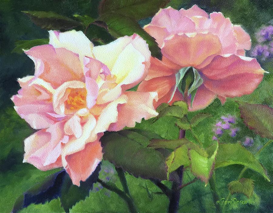 Rose Painting - Salmon Roses by Teri Rosario