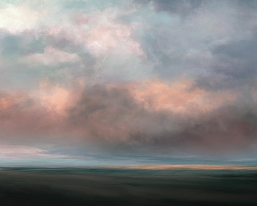 Atmosphere Mixed Media - Salmon Sky by Lonnie Christopher