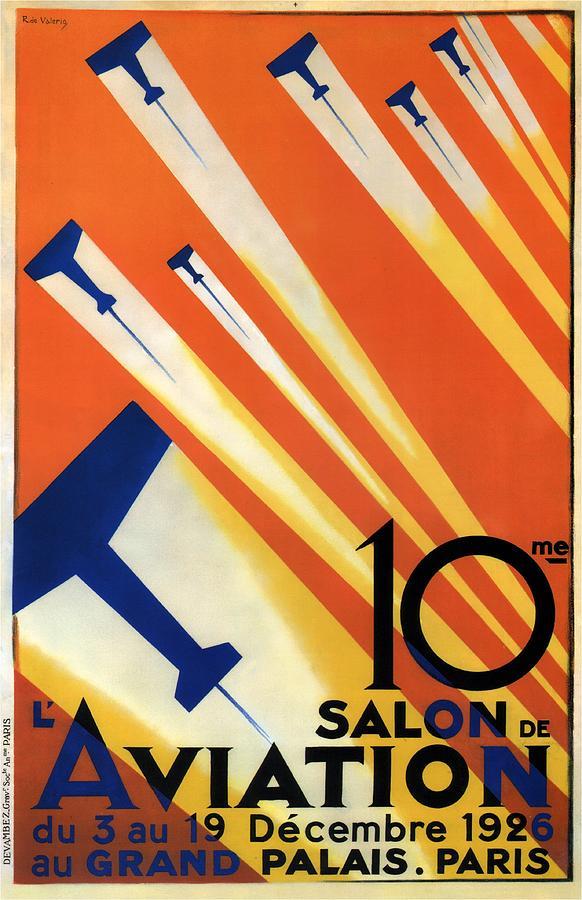 Salon De Aviation - Au Grand Palais, Paris 1926 - Airshow - Retro Travel Poster - Vintage Poster Photograph