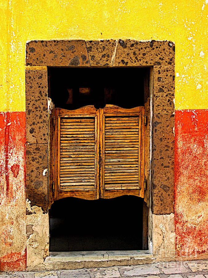 Darian Day Photograph - Saloon Door 1 by Mexicolors Art Photography