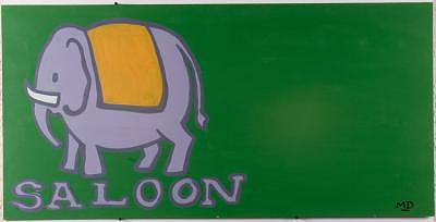 Elephant Painting - Saloon Green by M D