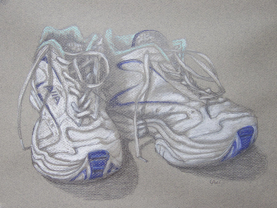 Sneakers Painting - Sals Sneakers by Laurie Paci
