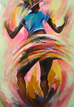 Dance Painting - Salsa by Mekbib Geberstadik