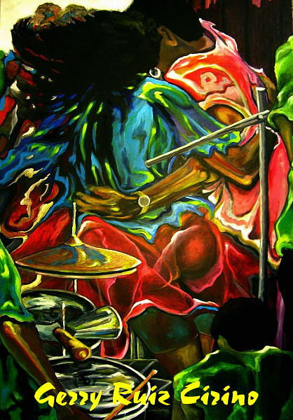 Salsa  Rendition Painting by Gerry Ruiz-Cirino